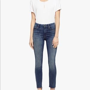 Mother Denim- High Waisted Looker Ankle Fray